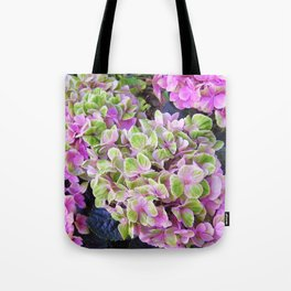 Pink & Green Hydrangea Tote Bag