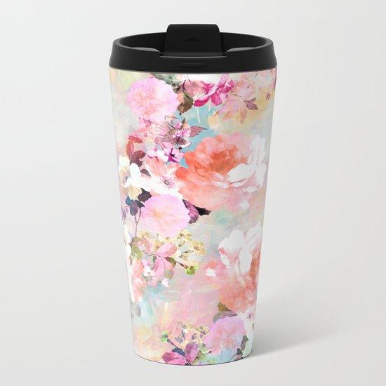 Love of a Flower Metal Travel Mug