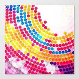 Colorful color Circle Dots Pattern for Girls Canvas Print