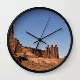 Three Gossips - Arches National Park Wall Clock