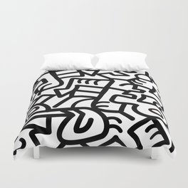 Dazed and Confused in the Morning Duvet Cover