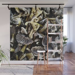 Chopped mushrooms - Forest harvest Wall Mural