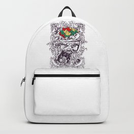 Skull with Brain OUT Backpack