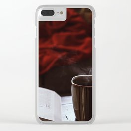 Morning Read Clear iPhone Case