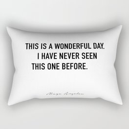 This is a wonderful day. Rectangular Pillow
