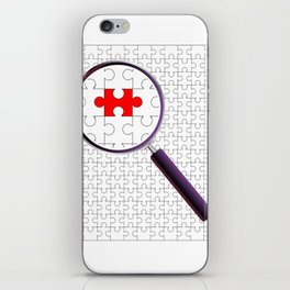 Odd Piece Magnifying Glass iPhone Skin