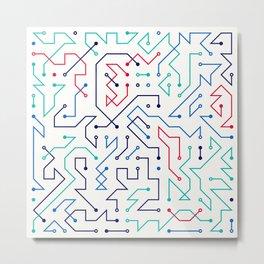 Circuit 1 Metal Print