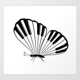 Musical Butterfly Art Print