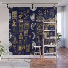 beautiful pagan themed tarot print Wall Mural