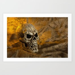 Skull And Sackcloth Art Print