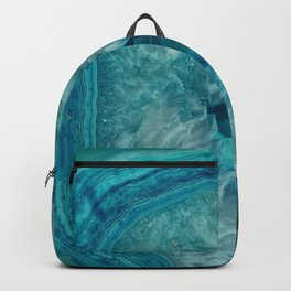 Turquoise teal decorative stone Backpack