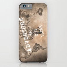 Adventure is out there. Stars world map. Sepia iPhone 6s Slim Case