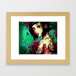 ink-girl Framed Art Print