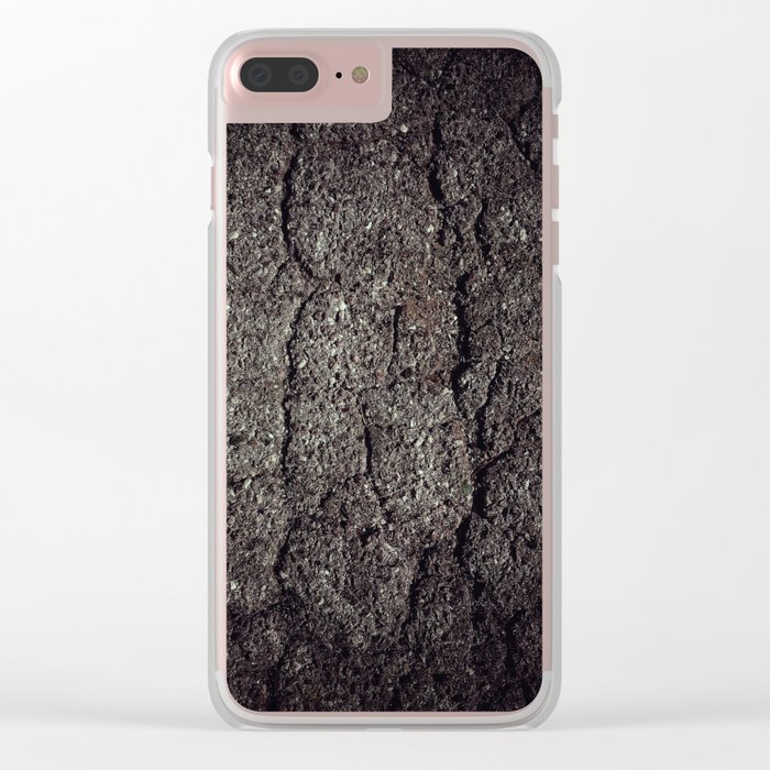 Cracked asphalt road Clear iPhone Case