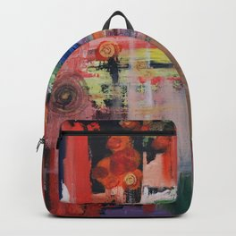 Abstract Orange Blue Backpack