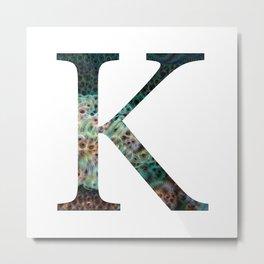 """Initial letter """"K"""" Metal Print"""