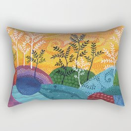 on and on fields Rectangular Pillow
