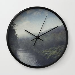 Wilderness in Mist Wall Clock