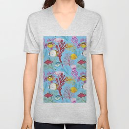 Coral Reef - All Together Water Unisex V-Neck