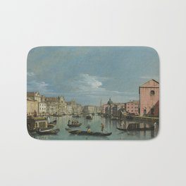 Venice: The Grand Canal facing Santa Croce by Bernardo Bellotto Bath Mat