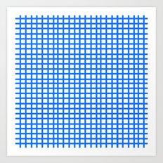 LINES in BLUE Art Print