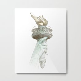 Statue of Liberty NYC Metal Print