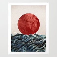 Sunrise in Japan Art Print