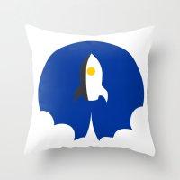 interstellar Throw Pillows featuring Interstellar by Sumalab
