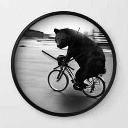 Biker Road Wall Clock