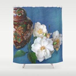Still Life of Magnolias Shower Curtain