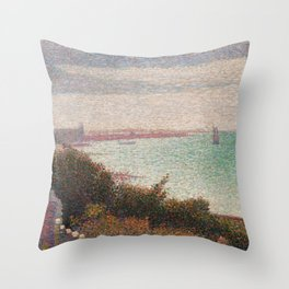"Georges Seurat ""Grandcamp, un soir"" Throw Pillow"
