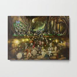 Ars Morendi Halloween illustration Metal Print