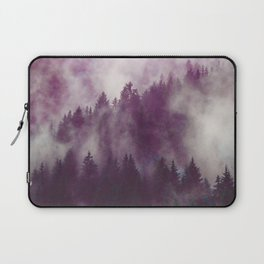 Clear life's mist to see beauty. Purple Laptop Sleeve