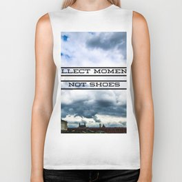 Collect Moments Not Shoes Biker Tank