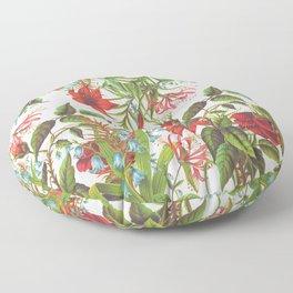 Ruby & Cerulean Floral Floor Pillow