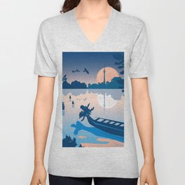 Dragon Boat Toronto Canada by Cindy Rose Studio Unisex V-Neck