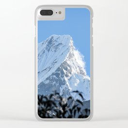 Machapuchare summit Clear iPhone Case