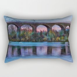 Viaduct at Reddish Vale Country Park Rectangular Pillow