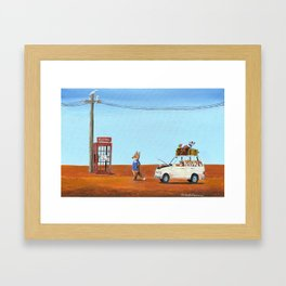 The Out of Service Phone Box Framed Art Print