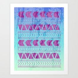 Berry Breeze Geometric Pattern Art Print