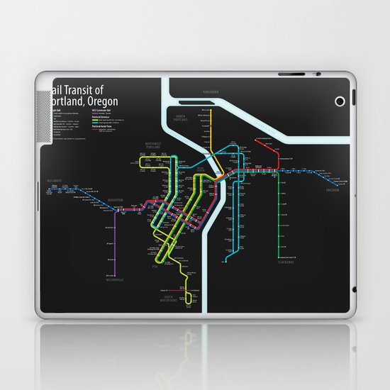 Rail Transit of Portland, Oregon Laptop & iPad Skin
