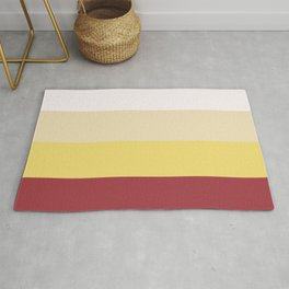 Color Combination. White, Vanilla Custard, Goldfinch, Scarlet Sage. Minimal Style. Solid Colors. Rug