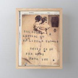hard feelings Framed Mini Art Print