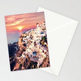 Santorini Sunset View Stationery Cards