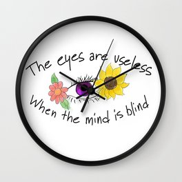 Beauty of the Opened Mind Wall Clock