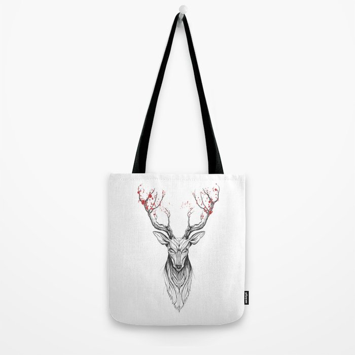 Deer tree (black stroke version for t-shirts) Tote Bag
