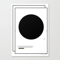 Geometric - Kreis . (Spanish) Canvas Print