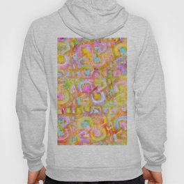 Rainbow Pastel Abstract Typography Watercolor Painting Hoody