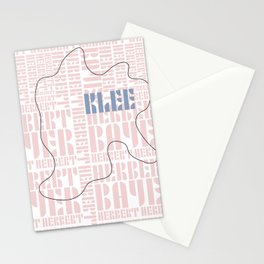 Paul Klee Bauhaus Type Art Stationery Cards