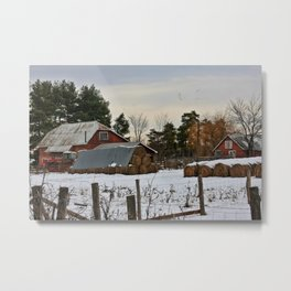 Day's end at the farm Metal Print